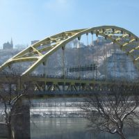 Fort Pitt Bridge from Point State Park, Питтсбург