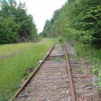 Erie Railroad tracks in rock cut, Скрантон