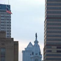USA - PA. Philadelphia - City hall from market street, Филадельфия