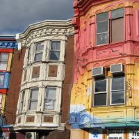 Painted Buildings in South Street, Филадельфия