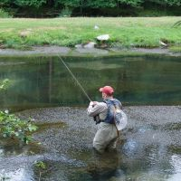 Fly Fishing on Fishing Creek in Clinton Co., PA, Флемингтон