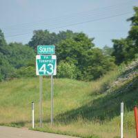 Sign of Turnpike 43, Эллсворт