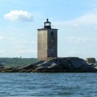 Dutch Island Light, Dutch Island, near Jamestown, RI, built 1857, Паутакет
