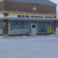Medina General Store, Medina, North Dakota, Facing West, Лер