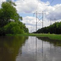 Paddling under the wires, Горман
