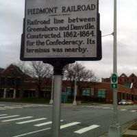 Piedmont Railroad Historical Marker - Downtown Greensboro, NC, Гринсборо