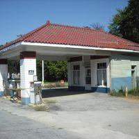 old gas station, Джеймстаун