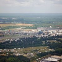 Arial view of Lowes Motor Speedway, Норт-Конкорд