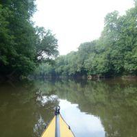 Deep river landscape., Роквелл