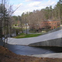 Renewed Spillway at Sand Lee Park---st, Стенли