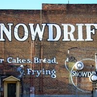 Mureal on old building Snowdrift ---st, Хадсон