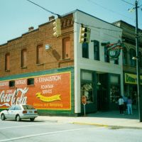 The Apothecary Shop and Coca Cola Sign at Hendersonville, NC, Хендерсонвилл