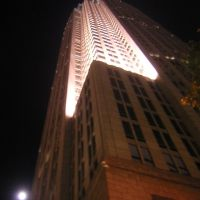 Underneath Bank Of America At Night, With Full Moon, 11-8-2008, Шарлотт