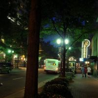 downtown at night, Шарлотт
