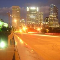 South Tryon @ I-77 Looking At Uptown, During Twilight, Шарлотт