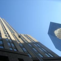 Looking Up At Bank Of America With Reflection, Шарлотт