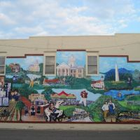 Scenes from Cleveland County mural, Шелби