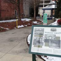 Majestic Theatre Historic Marker, Johnson City, TN, Джохнсон-Сити