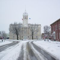 Maury County Courthouse under snow., Колумбиа