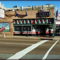 Blues City Cafe, Memphis. (Established - 1991) Steak, Beer, Shrimp, Liqueur, Tamales, Fun, Burgers, Blues, Catfish, Music, Ribs. In any order you wish., Мемфис