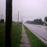 Navy Road on a rainy day., Миллингтон