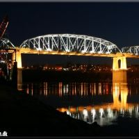 Shelby Street Bridge at Night, Нашвилл