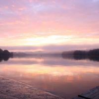 Dawn  on the Clinch River, Edgemoor, TN, Онейда