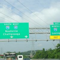 I-40/75 west of Knoxville, Tn, Пауелл
