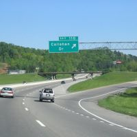 Interstate 75 north at the Exit 110 - Callahan Drive, Пауелл