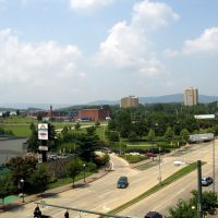 View looking west from the 5th floor of the Read House Sheraton in Chattanooga., Сентертаун