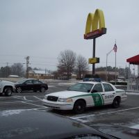 McDonalds parking lot in Trenton, TN, Трентон