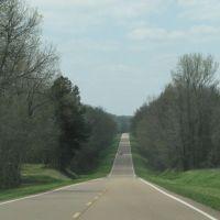 Highway 100 heading into Hatchie Bottoms, Тун