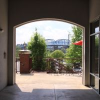 Frazier Ave. View of the Walking Bridge in Chattanooga, TN, Чаттануга