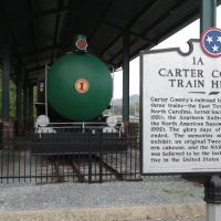 Carter Countys Trains Historical Marker, Elizabethton, TN, Элизабеттон