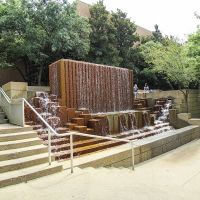 UTA School of Architecture Water Fountain, Arlington, Texas, Арлингтон