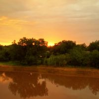 Sunset over the Catclaw Creek in Abilene, TX!, Аспермонт