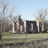 Remains of stone building at old Belle Plain TX. Feb. 2012., Аспермонт