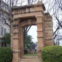 Doorway to Historic 1883 Stephens County Courthouse, Breckenridge, Texas, Брекенридж