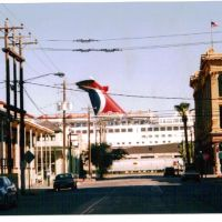 "Carnival Cruise ""Celebration"" in downtown Galveston, Галвестон"