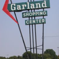 Old Garland Shopping Center Sign, Гарленд