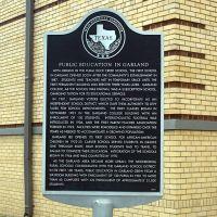 Garland Schools Historical Marker, Гарленд