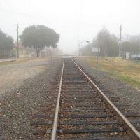 Railroad in Fog, Garland, Texas, Гарленд