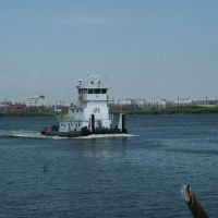Tug boat on Buffalo Bayou, Channelview,TX.   Port area, Дир-Парк