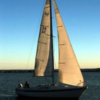 Sailing in Corpus Christi, Texas bay., Корпус-Кристи