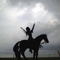 metal sculpture on Skyline Dr, Лейк-Ворт