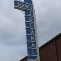 Longview News-Journal Sign behind building, Лонгвью