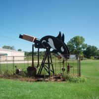 Decorated Petroleum Pump, Luling, Texas, Лулинг