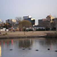 downtown Midland from the duck pond, Мидленд