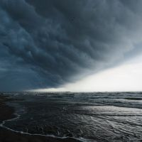 Storm front passes over Port Aransas beaches - Copyright 2010 by John C Karjanis, Одем