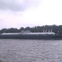 Barge Traveling on the Intracoastal Canal, Порт-Артур